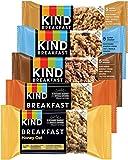 Kind Breakfast Bars Variety 5 Flavors, Dark Chocolate, Blueberry Almond, Honey Oat, Peanut Butter,...