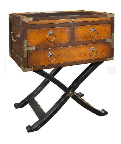 Authentic Models Spieltisch - Bombay Box, Champagner, Möbel in Military und Navy Stil