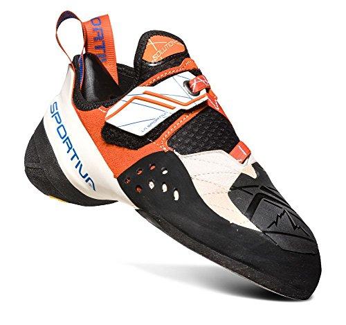 La Sportiva Women's Solution Performance Rock Climbing Shoe, White/Lily Orange, 37