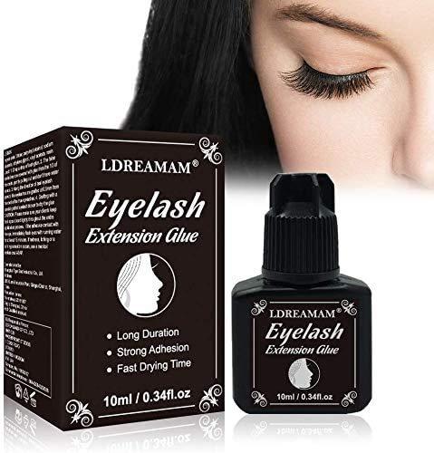 Wimpernkleber,Wimpern kleber für lashes,Latex eyelash glue,dunkler und permanenter Wimpernkleber für Individuals(10ml)