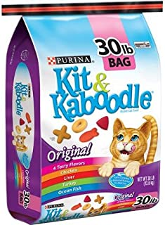 Purina Kit and Kaboodle Dry Lip-smackin' Combination of Four Cat-pleasing Flavors Chicken, Liver, Turkey & Ocean Fish Cat Food, Original, 30 lb Bag