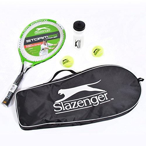 Slazenger Storm 63,5cm Junior Tennis Starter Set con Borsa, Palline e Borraccia
