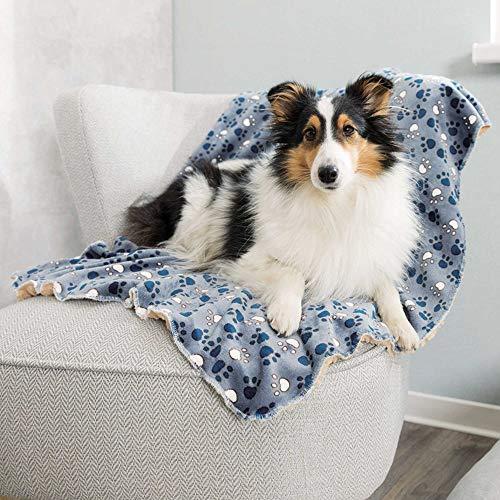 Trixie 37150 Decke Tammy, 100 × 70 cm, blau/beige