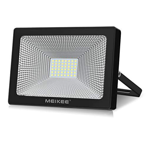 Proyector de exterior LED MEIKEE 50W Aplique de exterior 6500K 5000LM, sin toma de luz fría Impermeable IP66 Difusión de 120 ° ideal para almacenes, naves industriales y tiendas