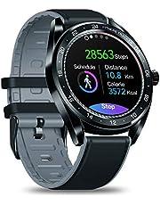 """Zeblaze NEOスマートウォッチ、統合GPS IP67防水1.3""""終日カラータッチスクリーンハートレート、血圧、アクティビティトラッキング、女性の健康、着信拒否、リモート写真、睡眠モニタリングスポーツウォッチ歩数計Bluetooth、iOS、Androidとの互換性"""