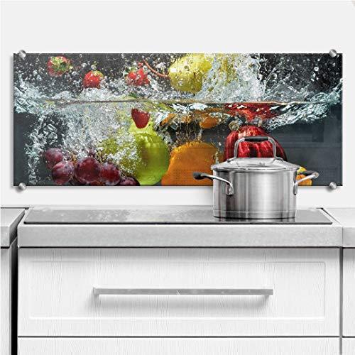 K&L Wall Art Cuadro de cristal con protección contra salpicaduras, para cocina,...