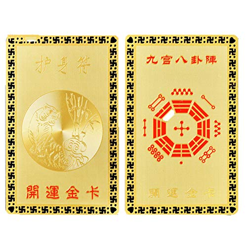 SJLHP Tai SUI Amulet 2021 Year Feng Shui Card, Bless Studies Career and Health, Attract Wealth and Good Luck Amulet Gift