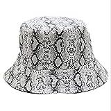 YSWG Sombrero de Verano señoras Snakeskin Pattern Mujer Plegable Fishing's Hat Fashion Casual Tide Personalidad Primavera Otoño Adulto Casera Casera (Color : 02, Size : One Size)