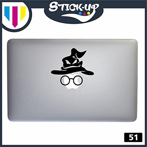 Adesivo Harry Potter Occhiali e cappello parlante - computer portatile macbook decalcomania