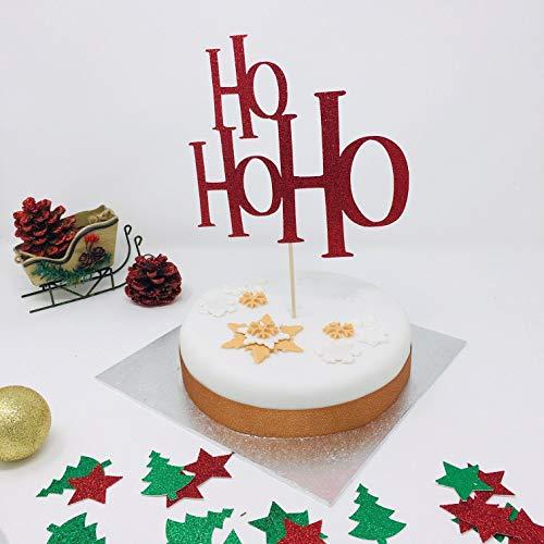 Decorazione natalizia per torte natalizie con glitter, decorazione natalizia con brillantini.