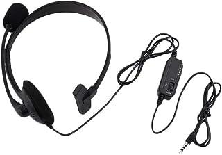 Morninganswer Casque de jeu filaire noir avec micro stéréo et basses 3,5 mm pour PC PlayStation 4 PS4