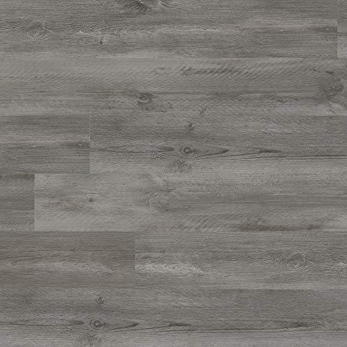 M S International AMZ-LVT-0108 7 inch x 48 inch Luxury Vinyl Planks LVT Tile Click Floating Floor Waterproof Rigid Core Wood Grain Finish Glendale, CASE, Seaside Gray, 19 Square Feet