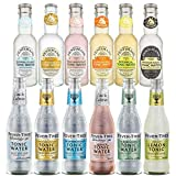 Fever Tree & Fentimans Mixed Case Tonic Water Flavours Set (24 Pack) - Perfect for Gin Lovers