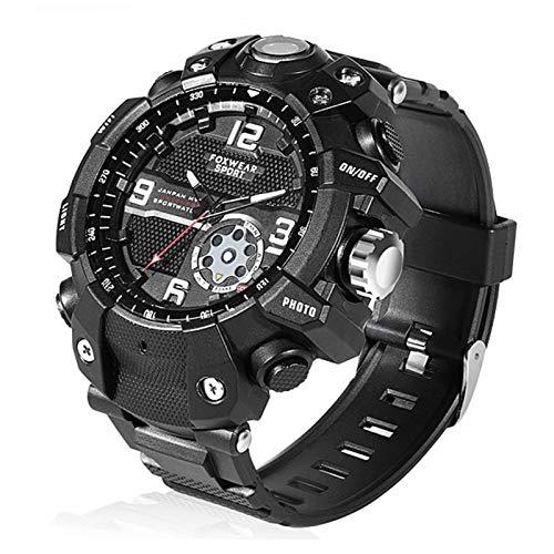 Sutinna Intelligente Uhr, super wasserdicht, staubdicht, stoßfest und frostschutzsport Smartwatch mit Remote-Kamera-LED-Notlicht, geeignet for die Abenteueraufzeichnung im Freien