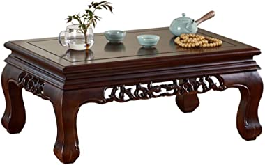 Tea Table Home Solid Wood Bay Window Table Simple Bay Window Table for Bed Balcony Bay Window Table Tables (Color : Brown, Si