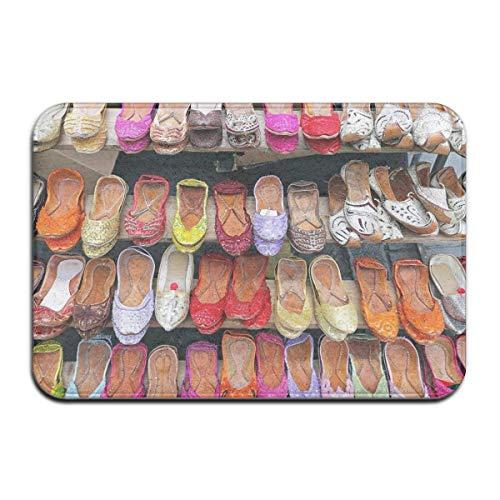 AoLismini Vordertürmatte im Freien, Fußmatte im Inneren, Fußmatten im Innenbereich, Fußmatte im Freien , rutschfeste Fußmatte Verschiedene Bunte Lederballerinas Damenschuhe