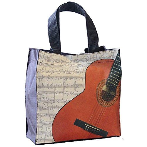 Tasche–Einkaufstasche–Thema Gitarre–Nylon und wasserdicht–33x 33x 13cm