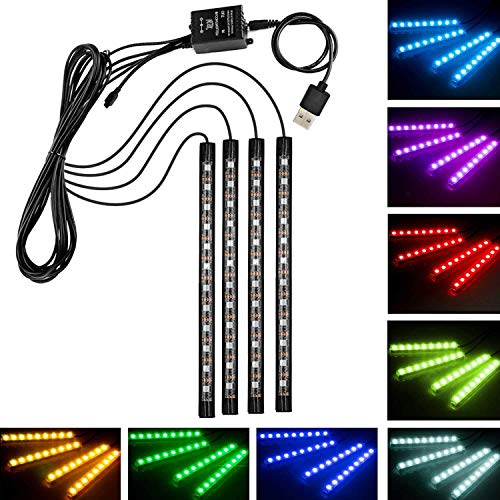 ledテープ 高輝度 RGB ledテープライト USB式 防水テープライト 全8色に切替 車内装飾用 多種フラッシュモード 音に反応 間接照明 リモコン付き