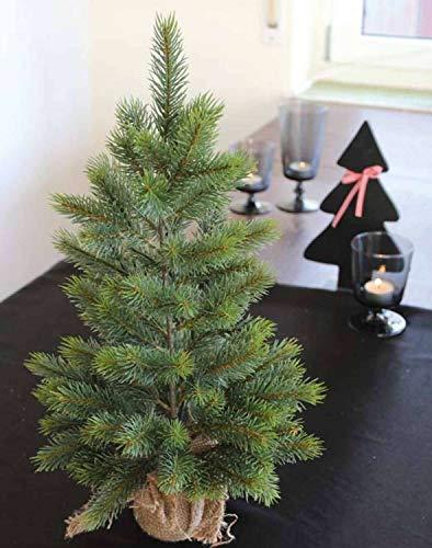 PARC Network - Plastik Weihnachtsbaum, im Jutesack, 45cm - Kunststoff Tanne - Deko Tannenbaum - Christbaumdeko - Plastik Christbaum