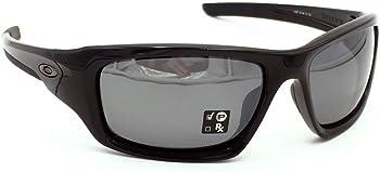 Oakley Black Iridium Polarized Rectangular Sunglasses