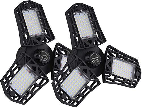 160W LED Garage Lights ,8500Lumens 2PACK Adjustable Garage Ceiling Light 110V,LED Garage Ceiling Light,E26 CRI 80, 6000k LED Bulbs Light for Garage,Workshop,Warehouse ,attic