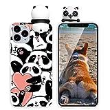 Yoedge Funda para Apple iPhone 7 Plus / 8 Plus, Silicona Cárcasa 3D Animal Muñecas Toy con Dibujos Antigolpes de Diseño Suave TPU Ultrafina Case Fundas Movil para iPhone7 Plus 5,5', Panda 3