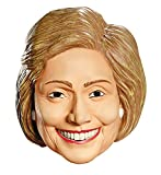 Hillary Clinton Deluxe Funny Political Theme Party Vinyl Halloween Mask Beige