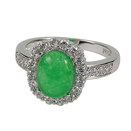 Judith Williams Modeschmuck Ring rhodiniert Chrysopras imit. Zirkonia P101 (53 (16.9))