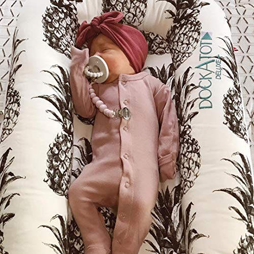 Ali+Oli Pacifier Clip Holder for Baby | Ale (Natural)