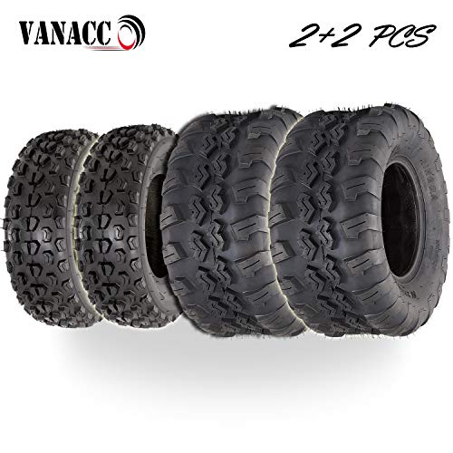 VANACC Set of 4 ATV/UTV Tires 22x7-10 Front 22x10-10 Rear Tubeless 22x7x10 22x10-10