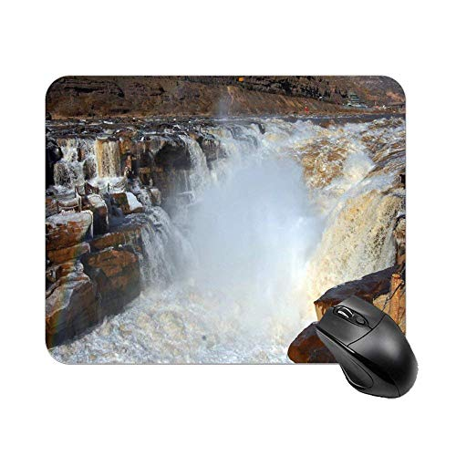 N\A Cute Mouse Sit On Coffee Play Computer Mouse Pad