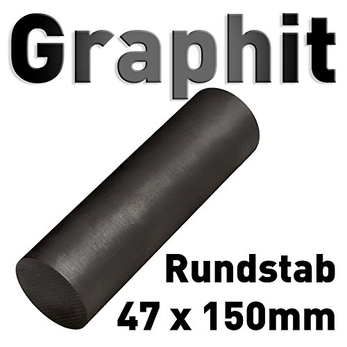 Graphit Rundmaterial 47mm x 150mm lang Zylinder Elektrode Stab Kohlenstoff 6