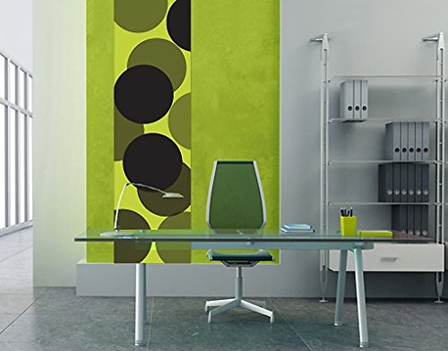 Ursula Lanzinger Adesivo murale No.UL258 Wallpaper Green Balls, Größe:489cm x 122cm