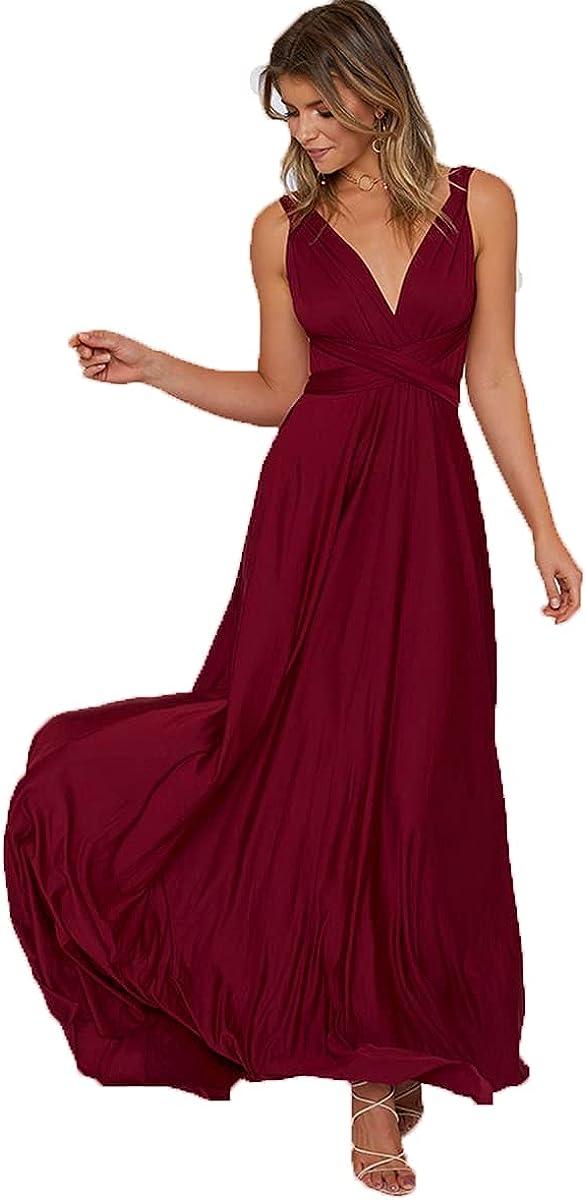 TKFORLYL Women's Sexy Backless Sleeveless Ruched Cutout Elegant Dress 8708