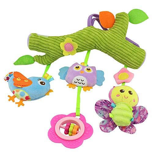 Mryishao Hochet de litCartoon Tier Krippe Mobile Baby Rasseln Mit Beißring Bett Hängen Neugeborenen Spielzeug Für Kinderwagen Kleinkind Pädagogisch