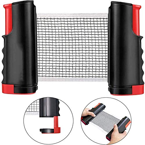 VARTSING Table Tennis net and Retractable Table Tennis,Adjustable Portable ping Pong net for Any Table,Indoor and Outdoor Ping Pong Sport Entertainment.