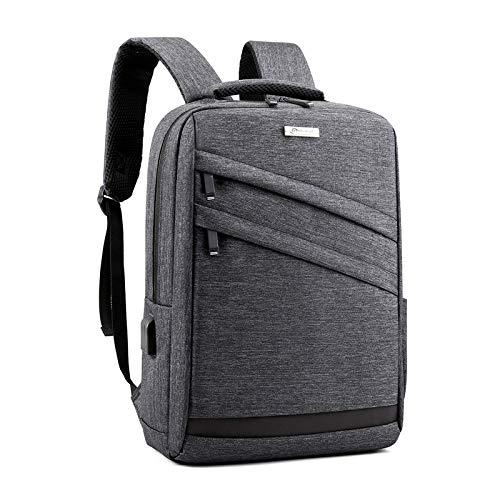 Bolsa de carga USB para hombres y mujeres, mochila para estudiantes de negocios de gran capacidad bolsa de viaje, Gray (Gris) - cdvf-2376