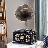 ZCYXQR Tocadiscos de fonógrafo Retro Vintage multifunción, Radio Antiguo estéreo, subwoofer, Tocadiscos, Regalo (Tocadiscos para Reproductores)
