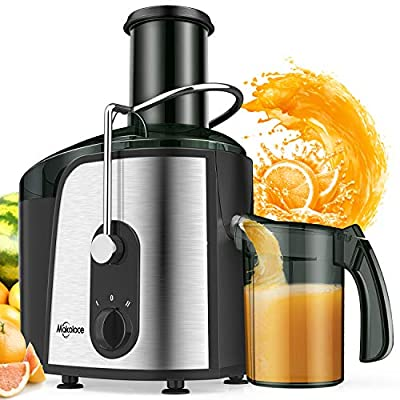 "Juice Extractor, 1200W Juicer Machines 3"" Large Feed Chute, Makoloce Centrifugal Juicers with Brush Easy to Clean, Electric Juice Machine, Compact Juicer Machines Vegetable and Fruit Juice Maker BPA Free"