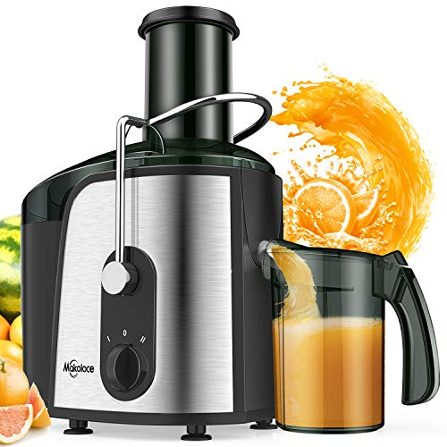 Juice Extractor, 1200W Juicer Machines 3' Large Feed Chute, Makoloce Centrifugal Juicers with Brush Easy to Clean, Electric Juice Machine, Compact Juicer Machines Vegetable and Fruit Juice Maker BPA Free