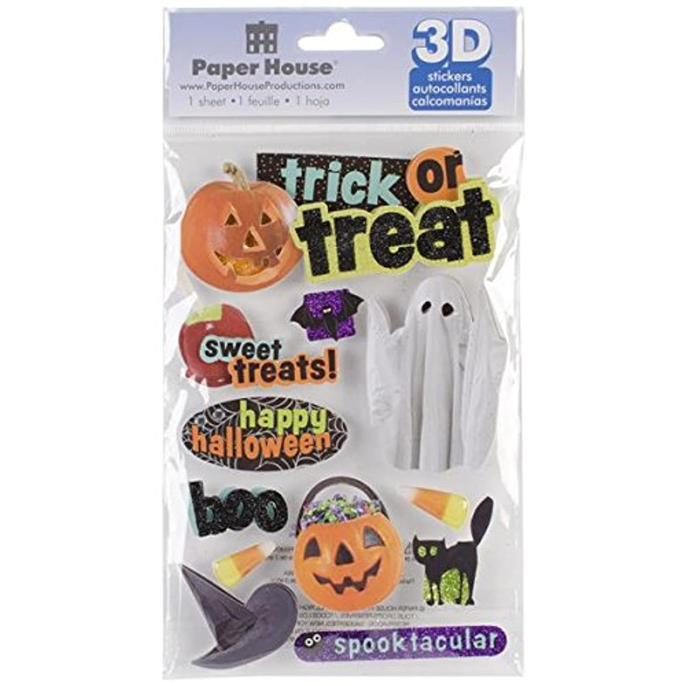 Paper House Productions STDM-0101E 3D Sticker, Trick Or Treat dzdcqj2869