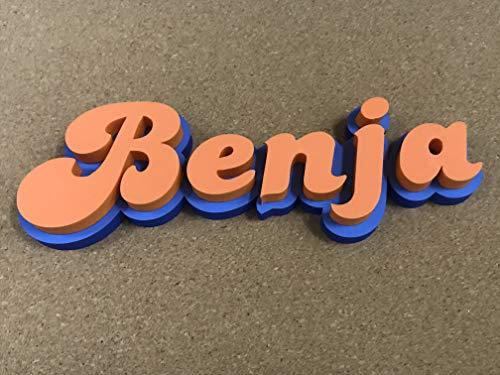 LEOANDMENA Cartel Personalizado Corporeo en Goma Eva 10mm,Decoracion para Cuarto,Puertas,Mesa de chuches,Candy Bar,Mesa Postre,Cumpleaños,corporativos