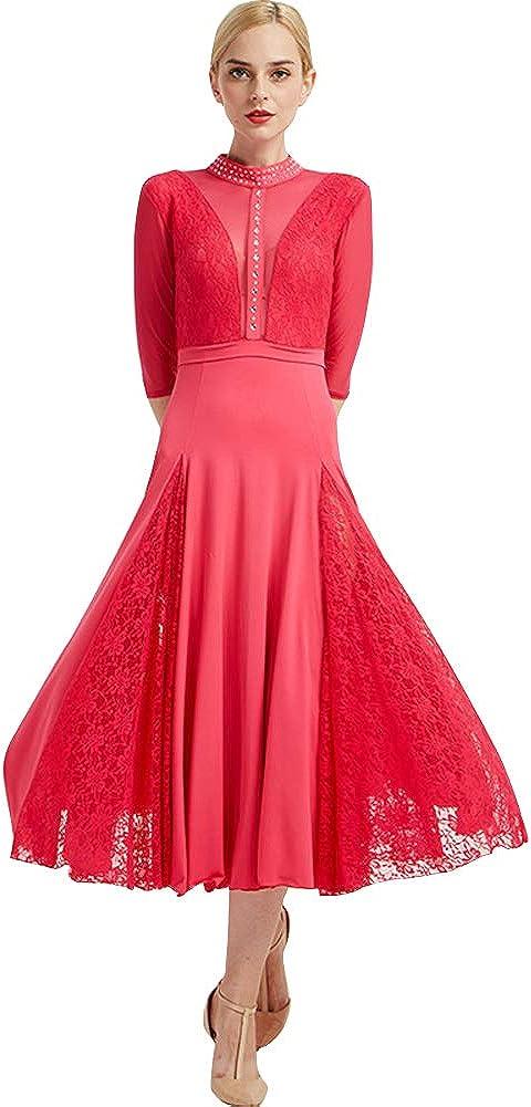 service Custom Made Fixed price for sale Womens Ballroom Sleeve Long Dance Dresses