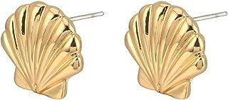 Geometric Shell Earrings Tropical Nautical Earrings Asymmetry Lovely Sea Animal Stud Earrings For Women