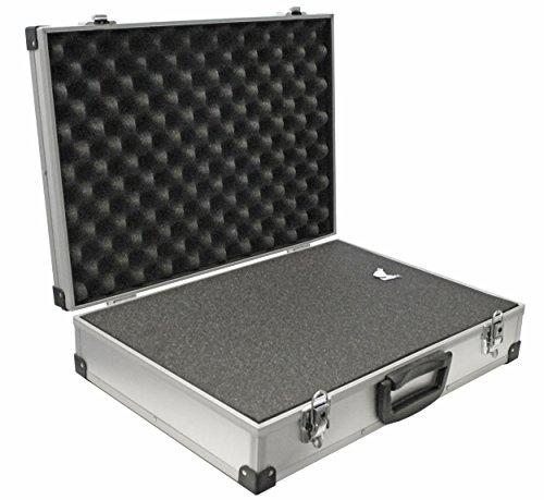 PeakTech P 7265 – Universal Koffer für Messgeräte, Robuster Tragekoffer, Werkzeug Aufbewahrung, Würfelschaum Platten, Schaumstoff Polsterung, abschließbar, Staubschutz, XL - 390 x 280 x 100 mm