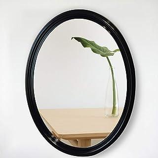 MXD Mirror Oval Black Bathroom Mirror Anti-Fog Bathroom Mirror Simple Style
