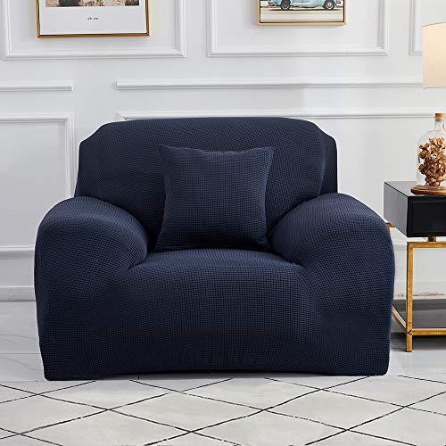 Sinoeem Fundas de Sofá de 1 2 3 4 Plazas (Gratis 2 Fundas de Almohada) Fundas de Sofa Antideslizante Cubierta Forros para Sofas Anti Arañazos Ajustable Protector para Sofá (Azul, 1 Plazas: 90-140cm)