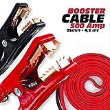 Cavi Batteria Cavo Professionale per Auto E Moto 500 AMP Facile da Usare OMOLOGATO 12-24V COSTRUITO per Alte/Basse Temperature 500AMP