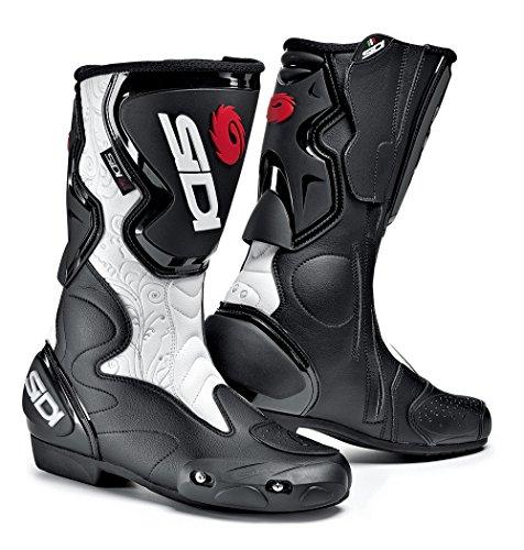 Sidi Fusion Lei Motorradstiefel, Schwarz-Weiß, Größe: 36