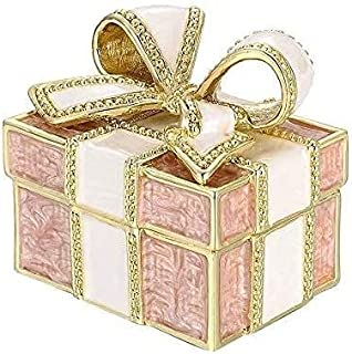 علبة مجوهرات ذهبية من تشاونغ على شكل قوس علبة مجوهرات صندوق تخزين مجوهرات فتاة مجوهرات هدية الزفاف (اللون: وردي) (اللون: و...